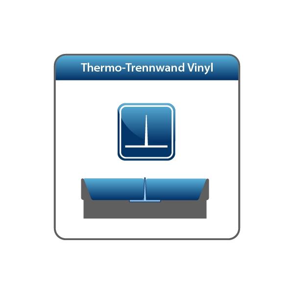 Wasserbett Trennwand Trennelement Vinyl DUAL-System