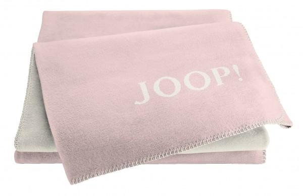 JOOP! Wohndecke MELANGE DOUBLEFACE Rosé-Natur 150x200