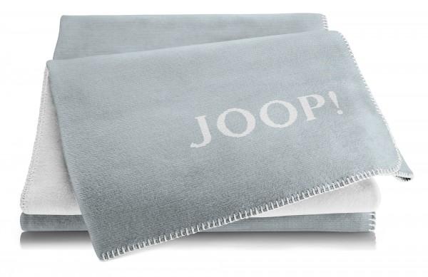 JOOP! Wohndecke MELANGE DOUBLEFACE Taube-Silber 150x200
