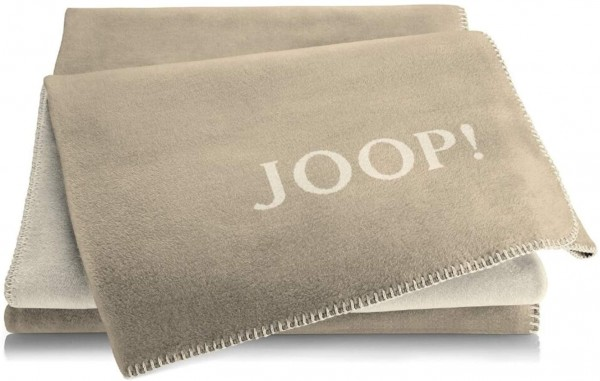JOOP! Wohndecke Uni Cashew-Macchiato