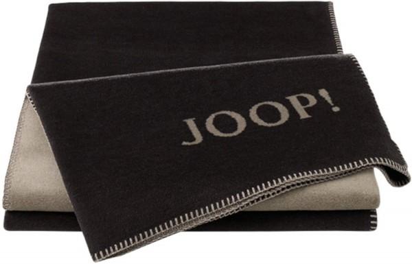 JOOP! Wohndecke Uni Ebony-Taupe