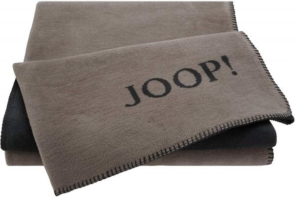 JOOP! Wohndecke UNI DOUBLEFACE Taupe-Anthrazit 150x200